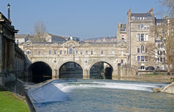 The Famous Pulteney Bridge on the River Avon in Ba Royalty Free Stock Image