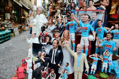 Famous puppets by Naples Royalty Free Stock Image