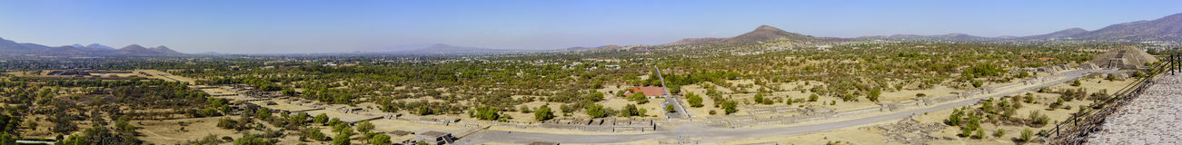 The famous Pyramid of the Moon. Aerial view of the famous and historical Pyramid of the Moon in Teotihuacan, Mexico Stock Images