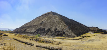 The famous Pyramid of the Sun. The famous and historical Pyramid of the Sun in Teotihuacan, Mexico stock photos