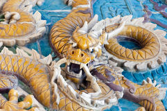 Famous Qing Dynasty Dragon Wall in Central Beijing Stock Photography