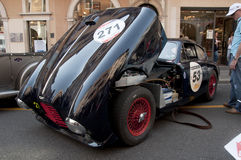 Famous race retro cars Mille Miglia Royalty Free Stock Photos