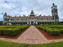 Famous railway station of Dunedin, New Zealand stock photo
