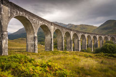 Famous Railway Viaduct at Glenfinnan royalty free stock photos