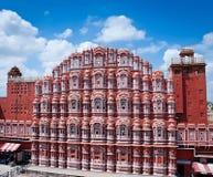 Famous Rajasthan landmark - Hawa Mahal palace. (Palace of the Winds), Jaipur, Rajasthan, India Royalty Free Stock Photo
