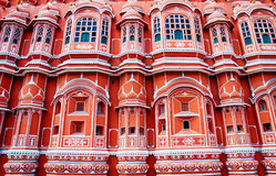 Famous Rajasthan landmark - Hawa Mahal palace, Jaipur, India Stock Images