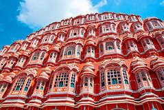 Famous Rajasthan landmark - Hawa Mahal palace (Palace of the Win Stock Image