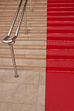 Famous red carpet in Cannes Stock Photo