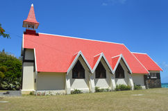 The Famous Red Church in Mauritius. This is the famous red church found in Mauritius. Many tourists who come to the island, go to visit this Red Roofted Church Royalty Free Stock Photos