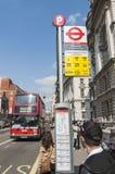 Famous red double-decker London bus Stock Photos