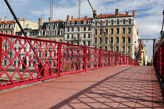 Famous red footbridge Royalty Free Stock Image