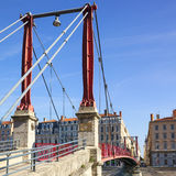 Famous red footbridge Royalty Free Stock Photo