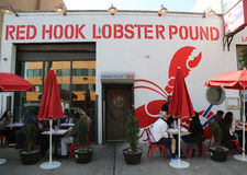 Famous Red Hook Lobster Pound in Brooklyn, New York. Royalty Free Stock Photos