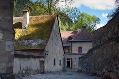 Famous Red Monastery called Cerveny Klastor. In Slovakia, near Pieniny mountains royalty free stock photos