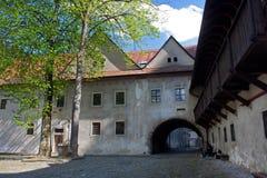 Famous Red Monastery called Cerveny Klastor. In Slovakia, near Pieniny mountains stock photos