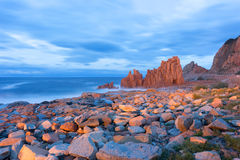 Famous Red Rock in Arbatax, Sardinia Italy. Red rocks and turquoise water of Arbatax, Sardinia, italy Royalty Free Stock Photography