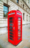 Famous red telephone booth in London Royalty Free Stock Photos