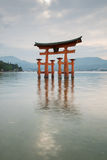 Famous red tori of Miyajima Royalty Free Stock Photo