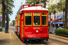 The Famous Red Tram In New Orleans Royalty Free Stock Images