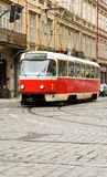 Famous red tram in Prague Royalty Free Stock Image