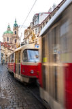 Famous red tram in Prague Royalty Free Stock Photo