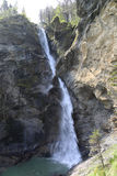 Famous Reichenbach Waterfalls in Meiringen, Switzerland. It was the location of the final physical altercation between Sherlock Holmes with the criminal Stock Photo