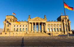 The famous Reichstag in Berlin Stock Image