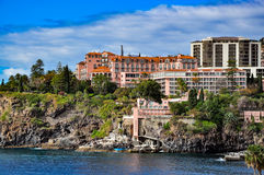Famous Reids hotel in Funchal on a cloudy day Royalty Free Stock Photography