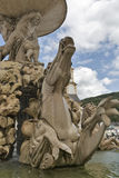 Famous Residenz Fountain in Salzburg, Austria. Stock Photos