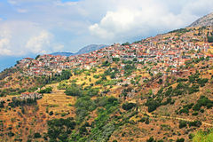 Famous resort town of Arachova, Greece Royalty Free Stock Images