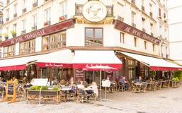 The famous restaurant Au pere tranquille, Paris, France. Stock Photography
