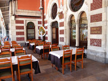 Famous restaurant. Famous Orient Express restaurant inside Istanbul railway station, Turkey Royalty Free Stock Images