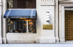 Famous restaurant in Wall street in New york Royalty Free Stock Photo