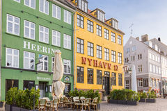 Famous restaurants on the sidewalk  in Copenhagen Stock Image