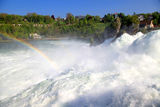 Famous Rhein Falls (Schaffhausen, Switzerland). Famous Rhein Falls - the biggest waterfall in Europe (Schaffhausen, Switzerland Royalty Free Stock Image