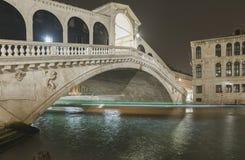 Rialto bridge by night Royalty Free Stock Photo