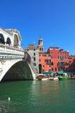Famous Rialto Bridge in Venice, Italy Royalty Free Stock Photos