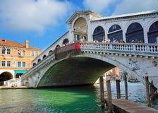Famous Rialto Bridge in Venice, Italy Stock Photography