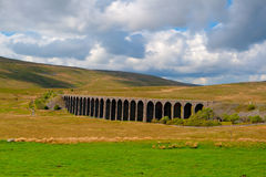 Famous Ribblehead Viaduct in Yorkshire Dales,England.It is 440 y Stock Images