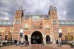 Famous Rijksmuseum in Amsterdam, Netherlands. Royalty Free Stock Photo