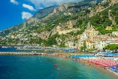 The famous riviera of Amalfi,Campania,Italy,Europe Royalty Free Stock Photography