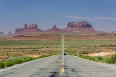 Famous road in Monument Valley, Utah, USA Stock Photos