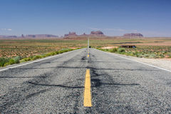 Famous road in Monument Valley, Utah, USA Royalty Free Stock Photo