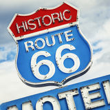 Famous road. Famous Motel sign on Route 66 USA Stock Photo