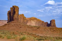 Rock butte in the monument valley Royalty Free Stock Photo