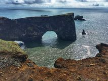 Cape Dyrholaey in Iceland royalty free stock photography