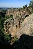 Famous rock formations in Czech Republic called Divadlo ( Theatre ) Royalty Free Stock Images