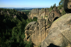 Famous rock formations in Czech Republic called Divadlo ( Theatre ) Royalty Free Stock Photos