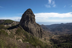 Famous rock formations roques. In Gomera Island Stock Images