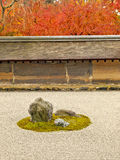 Famous rock garden of Ryoan-ji Temple, Kyoto Royalty Free Stock Image